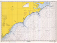 Cape Hatteras to Charleston 1970 AC General Chart 1110