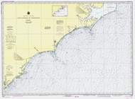 Cape Hatteras to Charleston 1981 AC General Chart 1110