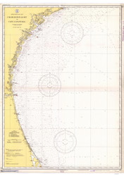 Charleston Light to Cape Canaveral 1938 AC General Chart 1111