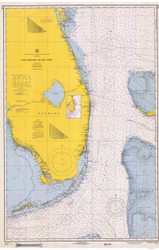 Cape Canaveral to Key West 1966 AC General Chart 1112