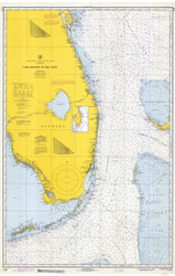 Cape Canaveral to Key West 1970 AC General Chart 1112