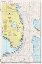 Cape Canaveral to Key West 1988 AC General Chart 1112