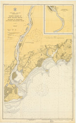 Milford to Stratford 1919 - Old Map Nautical Chart AC Harbors 219 - Connecticut