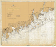 Sherwood Point to Stamford Harbor 1925 - Old Map Nautical Chart AC Harbors 221 - Connecticut