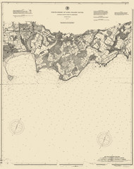 Oyster River to Milford 1895 - Old Map Nautical Chart AC Harbors 263 - Connecticut
