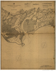 Milford to Bridgeport 1895 - Old Map Nautical Chart AC Harbors 264 - Connecticut