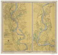 Bodkin Rock to Hartford 1948 - Old Map Nautical Chart AC Harbors 267 - Connecticut