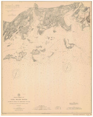 George's Rock to Sheffield Island 1894 - Old Map Nautical Chart AC Harbors 267 - Connecticut