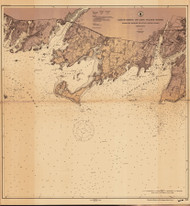 Stamford Harbor to Little Captain Island 1914 A - Old Map Nautical Chart AC Harbors 269 - Connecticut