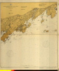Little Captain Island to Rye Neck 1916 - Old Map Nautical Chart AC Harbors 270 - Connecticut