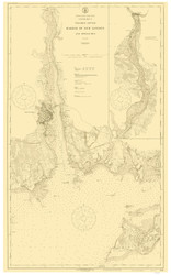 Harbor of New London and Approaches 1917 - Old Map Nautical Chart AC Harbors 359 - Connecticut