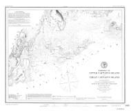Harbors of Little Captain's Island and Great Captain's Island 1882 - Old Map Nautical Chart AC Harbors 365 - Connecticut