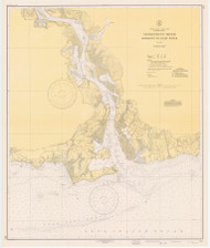 Entrance to Deep River 1941 - Old Map Nautical Chart AC Harbors 215 - Connecticut