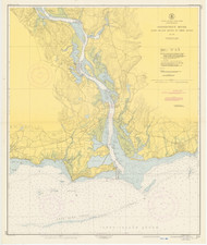 Entrance to Deep River 1950 - Old Map Nautical Chart AC Harbors 215 - Connecticut