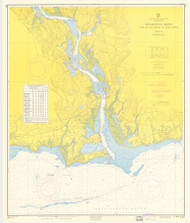 Entrance to Deep River 1960 - Old Map Nautical Chart AC Harbors 215 - Connecticut