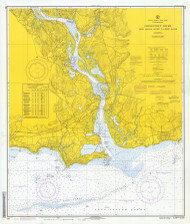 Entrance to Deep River 1971 - Old Map Nautical Chart AC Harbors 215 - Connecticut