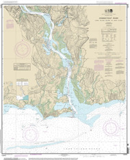 Long Island Sound to Deep River 2014 - Old Map Nautical Chart AC Harbors 13275 - Connecticut