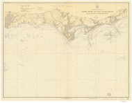 Duck Island to Madison Reef 1924 - Old Map Nautical Chart AC Harbors 216 - Connecticut