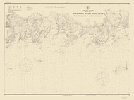 Guilford Harbor to East Haven River 1918 B - Old Map Nautical Chart AC Harbors 217 - Connecticut