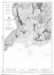 New Haven Harbor 1898 - Old Map Nautical Chart AC Harbors 218 - Connecticut