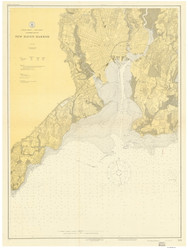 New Haven Harbor 1918 - Old Map Nautical Chart AC Harbors 218 - Connecticut
