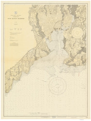 New Haven Harbor 1927 - Old Map Nautical Chart AC Harbors 218 - Connecticut