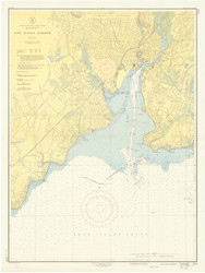 New Haven Harbor 1952 - Old Map Nautical Chart AC Harbors 218 - Connecticut