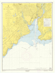 New Haven Harbor 1962 - Old Map Nautical Chart AC Harbors 218 - Connecticut