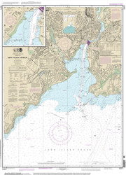 New Haven Harbor 2014 - Old Map Nautical Chart AC Harbors 12371 - Connecticut