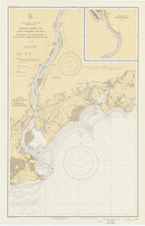 Milford to Stratford 1934 - Old Map Nautical Chart AC Harbors 219 - Connecticut