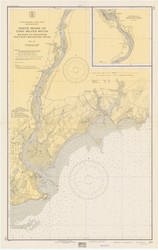 Milford to Stratford 1940 - Old Map Nautical Chart AC Harbors 219 - Connecticut