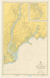 Milford to Stratford 1950 - Old Map Nautical Chart AC Harbors 219 - Connecticut