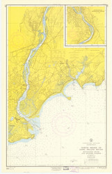 Milford to Stratford 1960 - Old Map Nautical Chart AC Harbors 219 - Connecticut