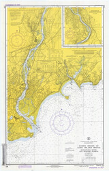 Milford to Stratford 1973 - Old Map Nautical Chart AC Harbors 219 - Connecticut