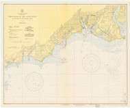 Stratford to Sherwood Point 1943 - Old Map Nautical Chart AC Harbors 220 - Connecticut