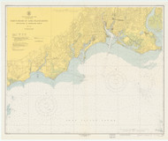 Stratford to Sherwood Point 1950 - Old Map Nautical Chart AC Harbors 220 - Connecticut