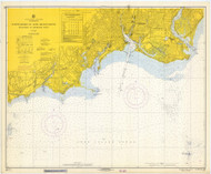 Stratford to Sherwood Point 1967 - Old Map Nautical Chart AC Harbors 220 - Connecticut