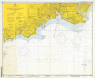 Stratford to Sherwood Point 1973 - Old Map Nautical Chart AC Harbors 220 - Connecticut