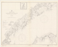 Greenwich Point to New Rochelle 1935 - Old Map Nautical Chart AC Harbors 222 - Connecticut