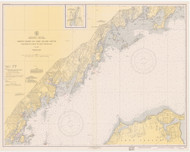 Greenwich Point to New Rochelle 1939 - Old Map Nautical Chart AC Harbors 222 - Connecticut