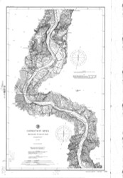 Higganum to Rocky Hill 1895 - Old Map Nautical Chart AC Harbors 255 - Connecticut