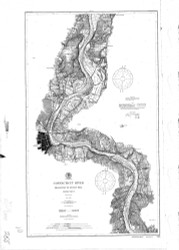 Higganum to Rocky Hill 1900 - Old Map Nautical Chart AC Harbors 255 - Connecticut