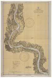 Higganum to Rocky Hill 1933 B - Old Map Nautical Chart AC Harbors 255 - Connecticut