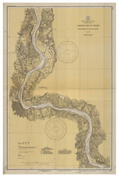 Higganum to Rocky Hill 1937 B - Old Map Nautical Chart AC Harbors 255 - Connecticut