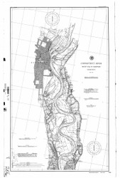 Rocky Hill to Hartford 1895 BW - Old Map Nautical Chart AC Harbors 256 - Connecticut