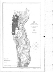 Rocky Hill to Hartford 1918 BW - Old Map Nautical Chart AC Harbors 256 - Connecticut