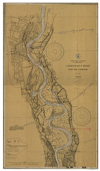 Rocky Hill to Hartford 1933 B - Old Map Nautical Chart AC Harbors 256 - Connecticut