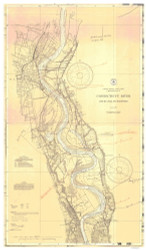 Rocky Hill to Hartford 1937 A - Old Map Nautical Chart AC Harbors 256 - Connecticut