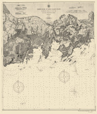 Blackstone Rocks to South End 1897 - Old Map Nautical Chart AC Harbors 261 - Connecticut