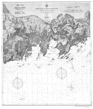 Blackstone Rocks to South End 1897 BW - Old Map Nautical Chart AC Harbors 261 - Connecticut